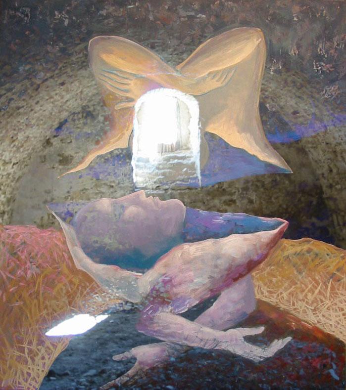 Stelian Onica - Metamorfoză, tehn.mixta./ carton, 68/57 cm, 2013