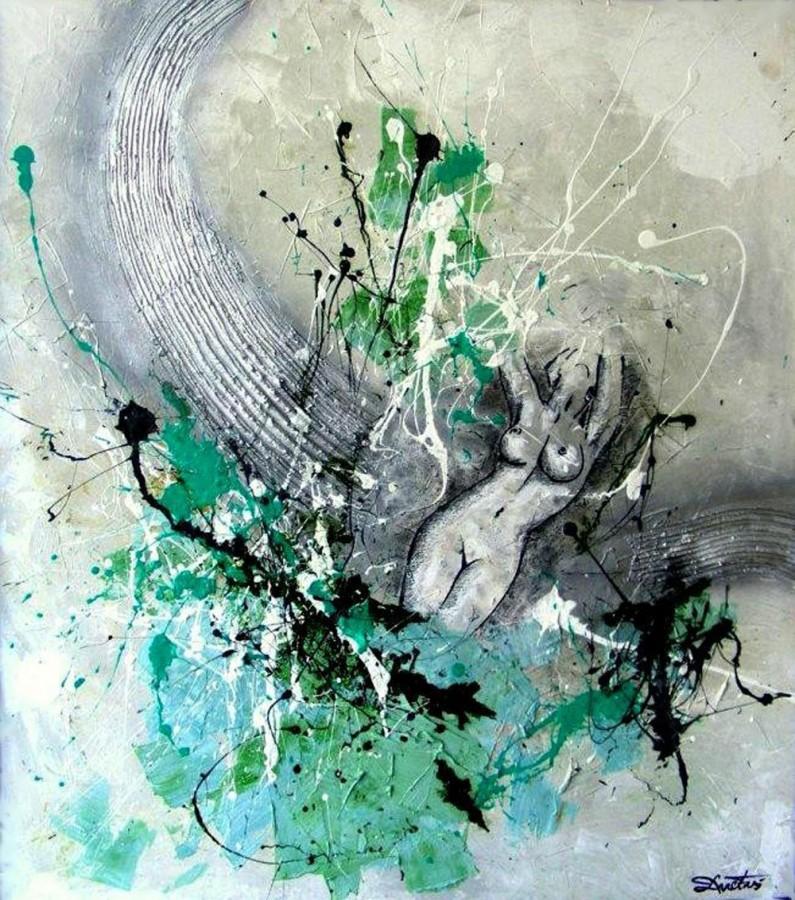 1.Hope 1  120 x 100 cm, tehnica mixta, 2010