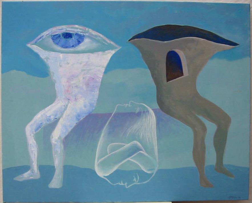 Stelian Onica - Existentă, acril /panza, 81x65cm, 2006
