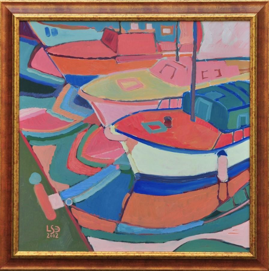 Barci in portul Mandraki_L Sacrieru-Dragomir .