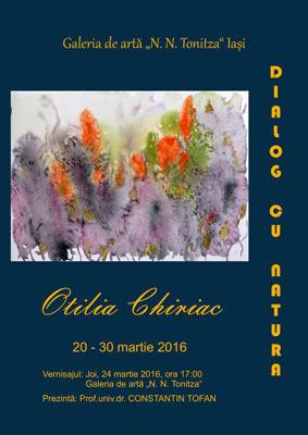 Afis Otilia Chiriac Dialog cu natura