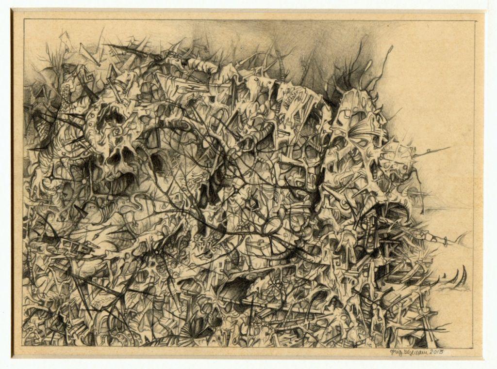 Alchemy II - desen pe hârtie, 15x20cm, 2013