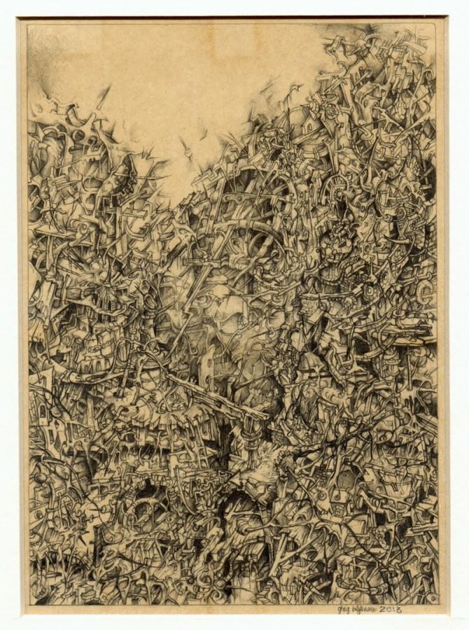 Alchemy IV - desenpe hârtie, 15x20cm, 2013