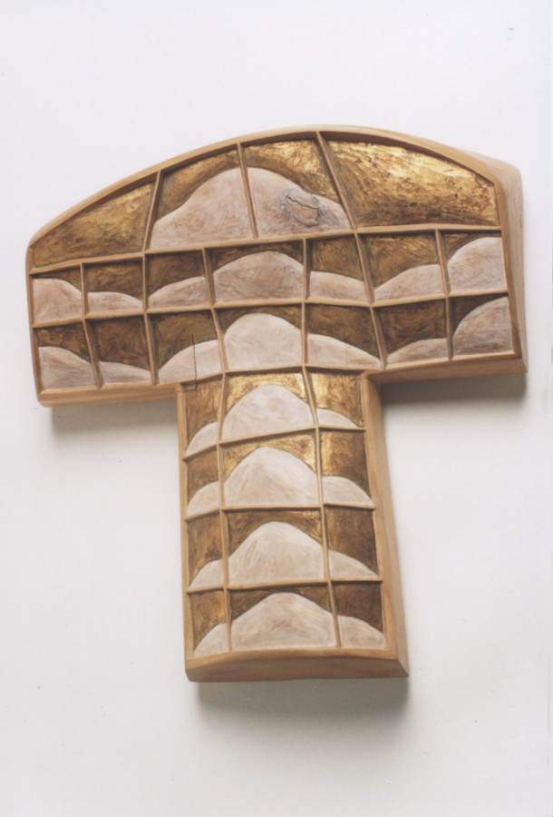 Amintirea II - lemn tuie patinat 47x45x14 1990