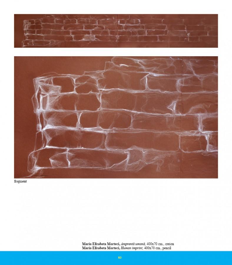 Amprenta umana - fragment, 2011, 400x70cm, creion,pastel si creta pe carton
