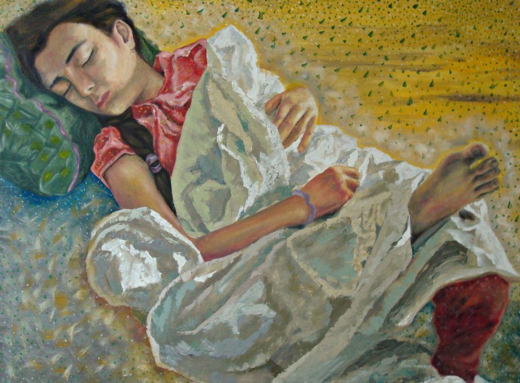 Angels Plaine - oil on canvas 104x140cm Campia Ingerilor - ulei pe panza caserata - din ciclul Dreams Are Like Angels