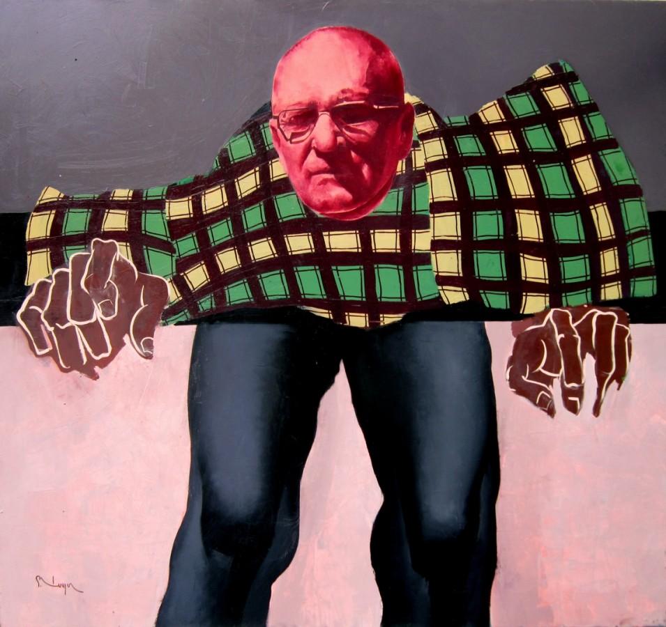 Autoportret - 120x140cm, ulei pe panza, 2010 .