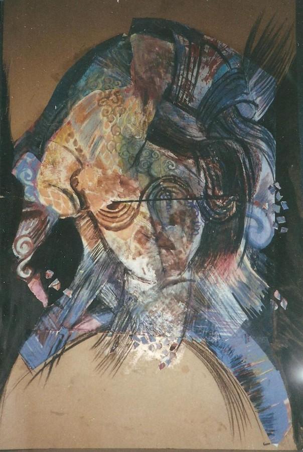 Autoportret baroc  Dimensiune 100 X 70 cm, Tehnica Mixta, 2000