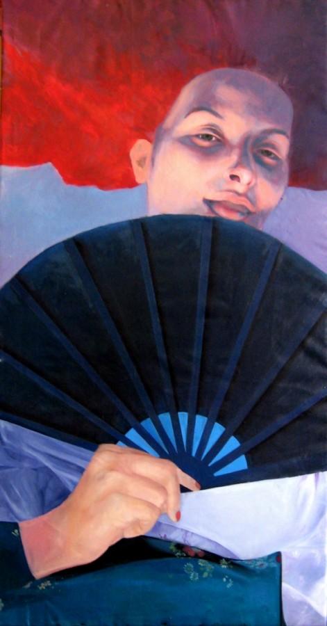 Autoportret,200x100,ulei pe panza,2009