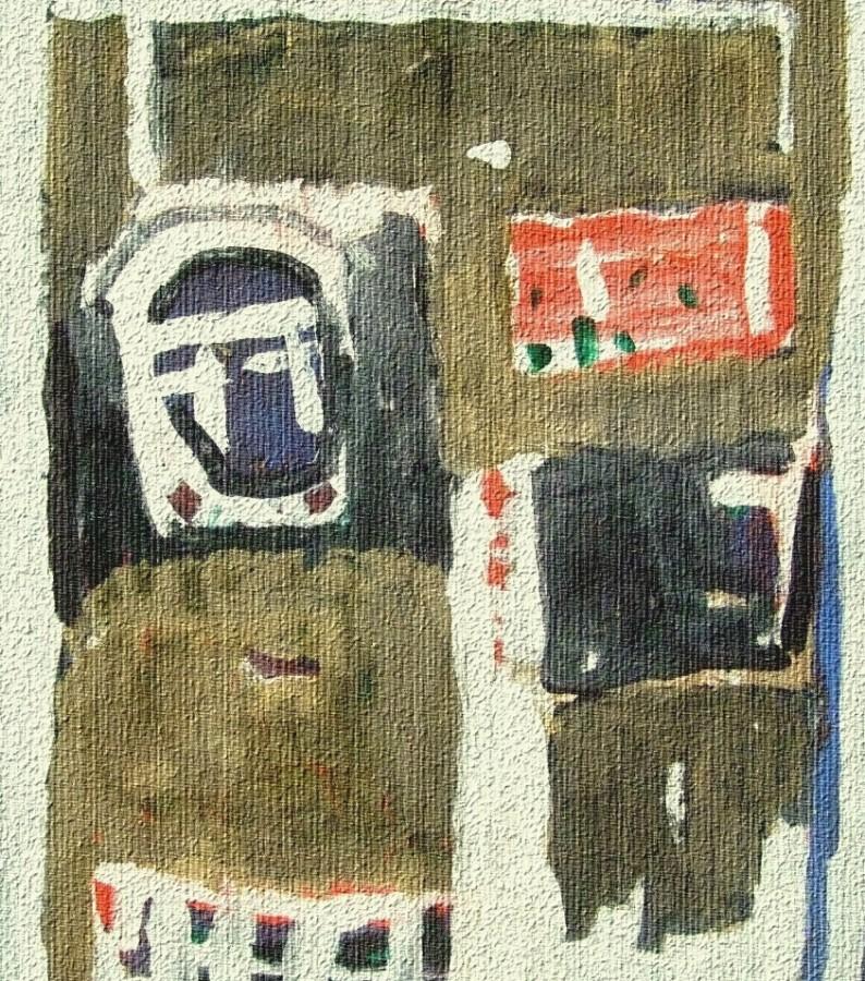 B. Compozitie 2. tempera pe hartie. 29x37 cm.  2012