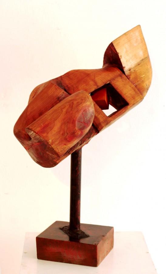 COSMIN MIHAI IATESEN - FEREASTRA TAINUITA, 2007, Colectia personala, dimensiuni 30 x 55 x 70 cm tehnica lemn, cires