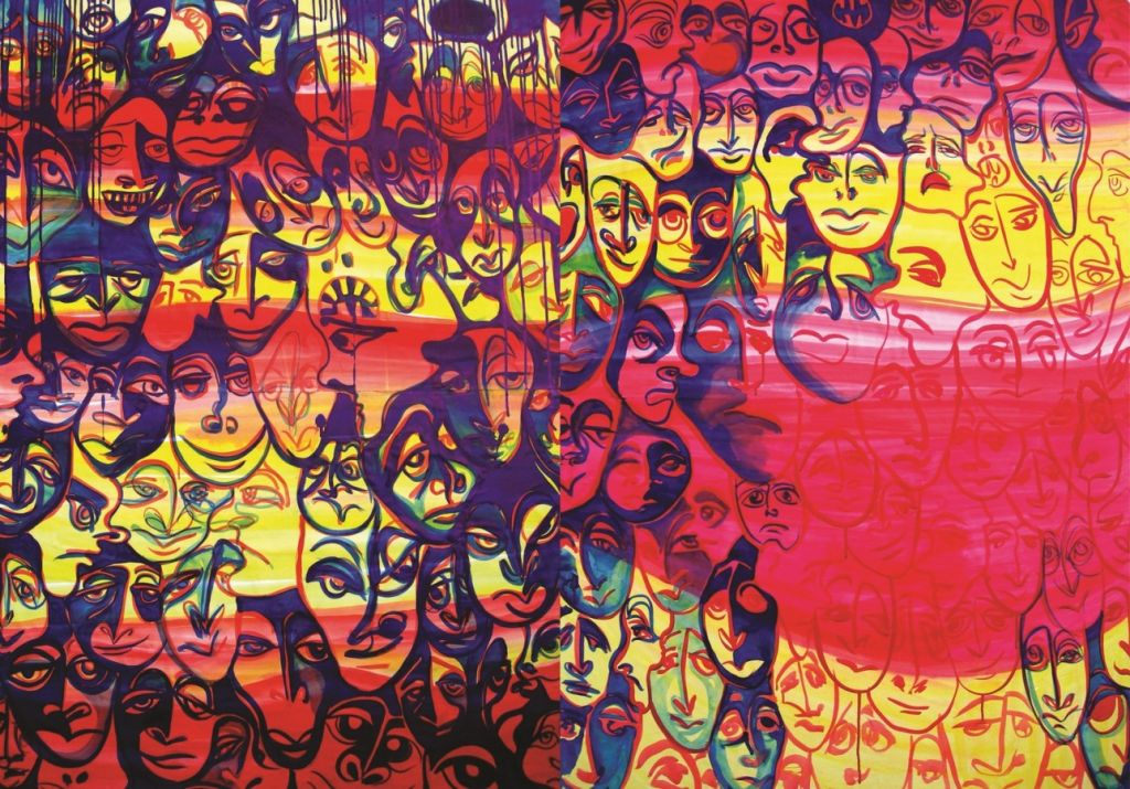 Captivity, 140 x 200 cm, tehnica mixta, 2006 .