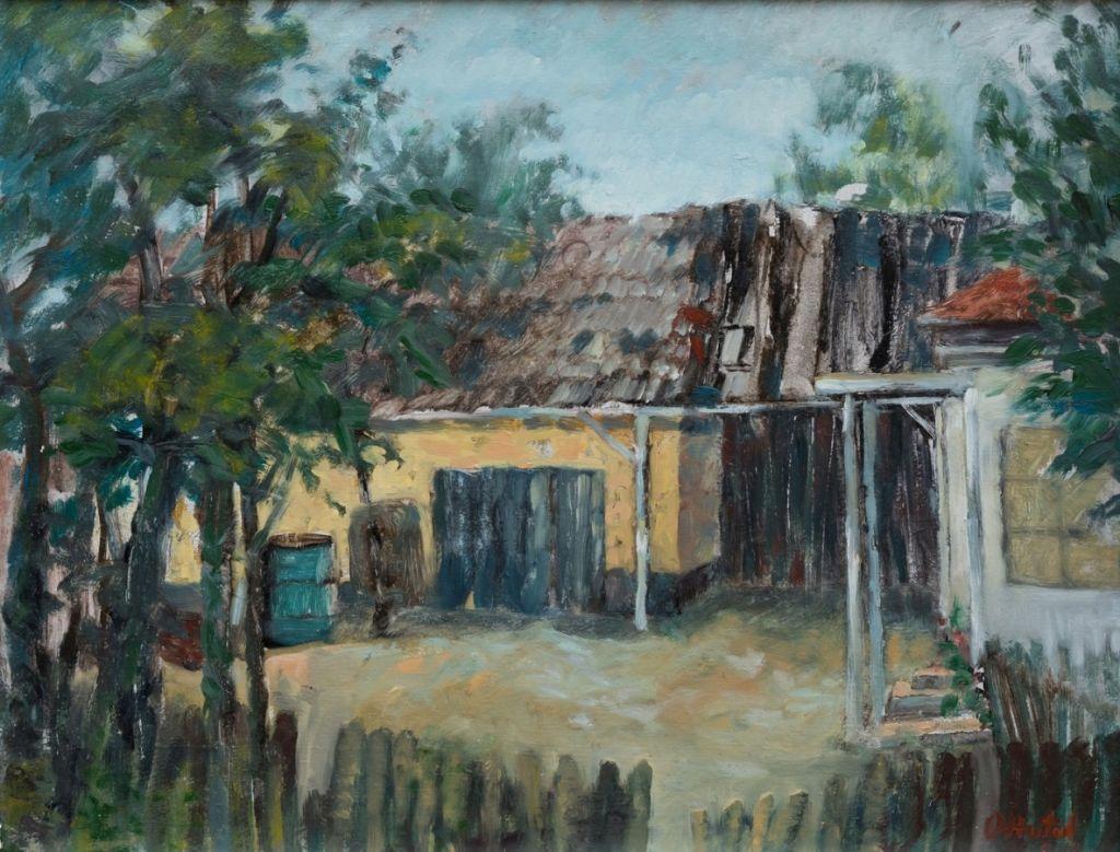 Casa sin satul Harsa, ulei pe carton, 34x44 cm. .