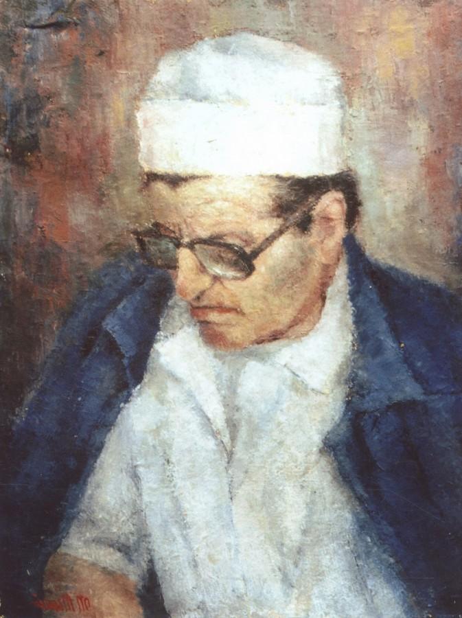 Chirurgul - ulei pe panza, 60x70 cm, 1989 .