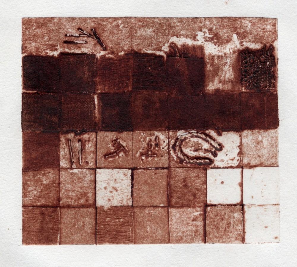 Compozitie, 2004, colografie, 12x14cm .