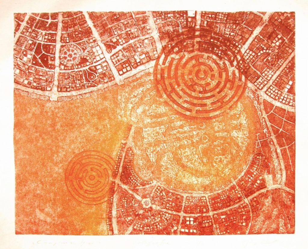 Compozitie, 2009, colografie, 33x41cm .