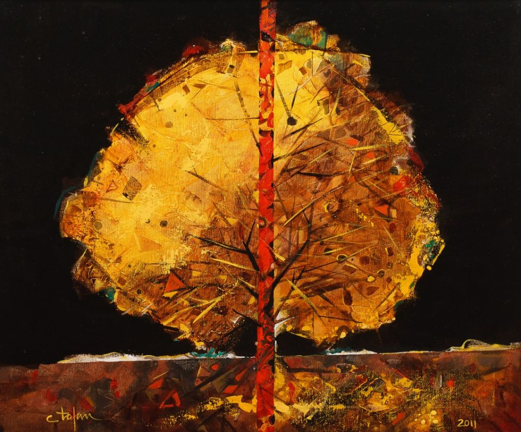 Copacul,-acril-pe-panza,-50x60-cm.--