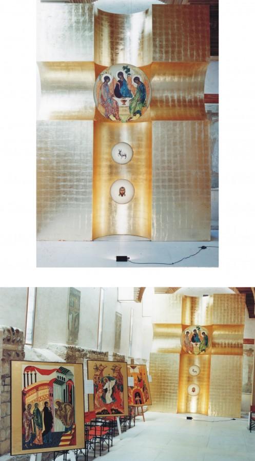 Cristian Ungureanu-Dodici-quadri bizantini-instalatie, 2000