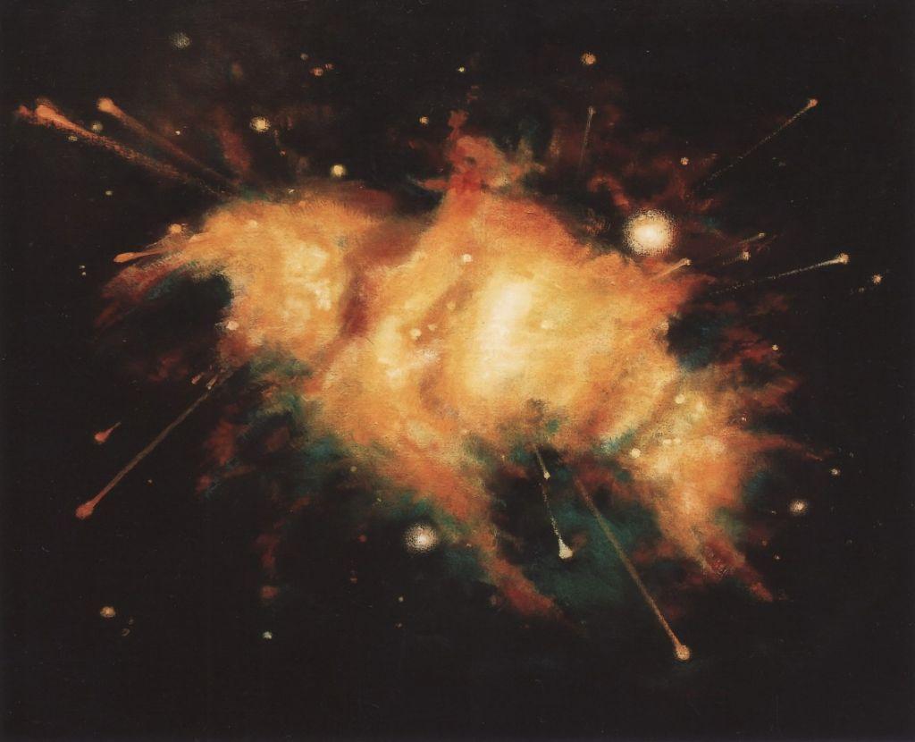 Dezintegrare - 90x100 cm, ulei pe panza, 2007