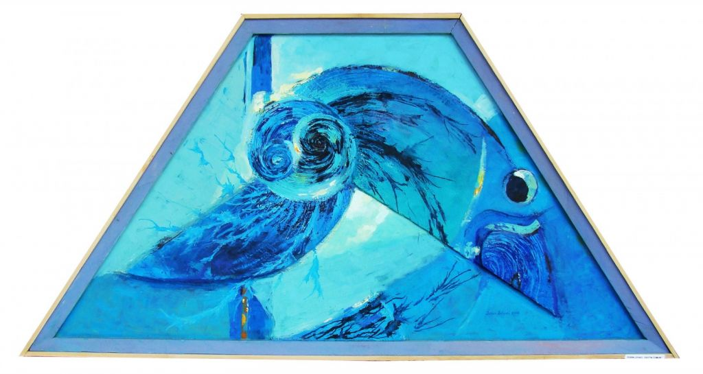 Dorin Lehaci -Titlul DESTIN COMUN - tehnica mixta - 130-50-90 cm an 2008