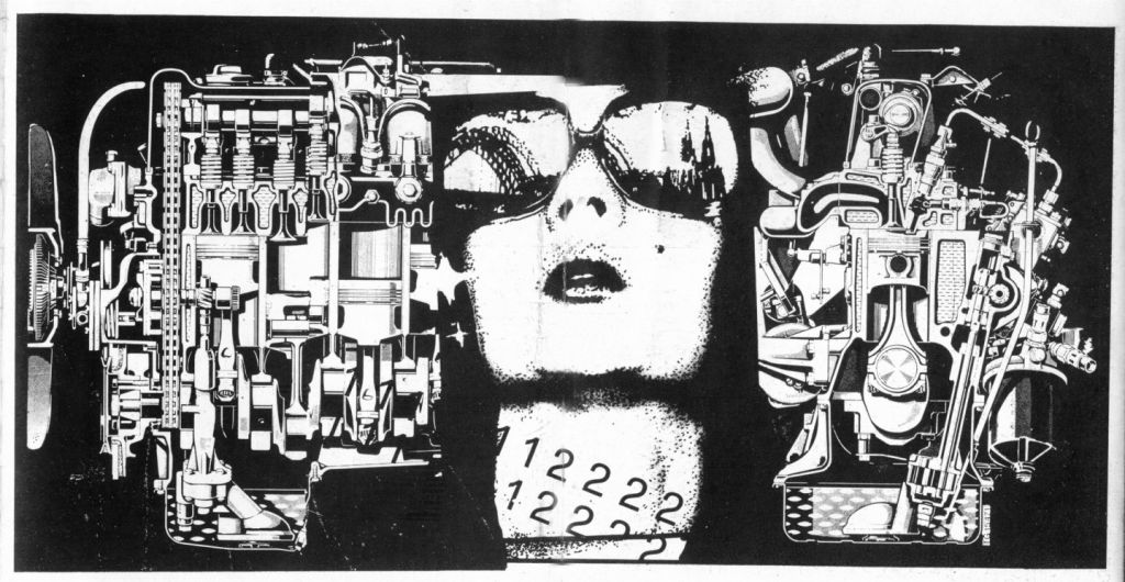 Doua lumi - serigrafie pe hârtie, 30x45cm, 1990