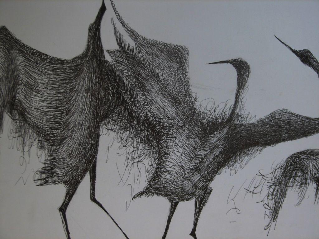 Duet - tus-penita pe hartie, 50x60cm , 2009
