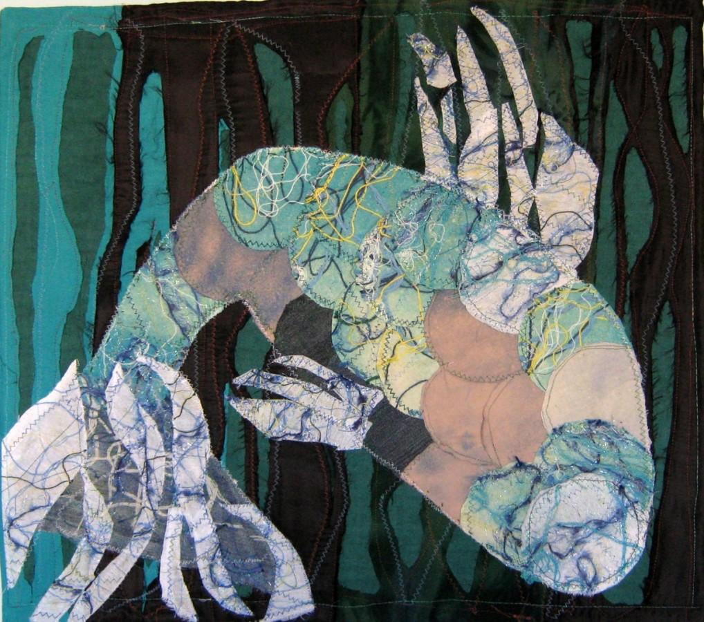 Ecaterina Marghidan  Apa 69-63 colaj textil 2011