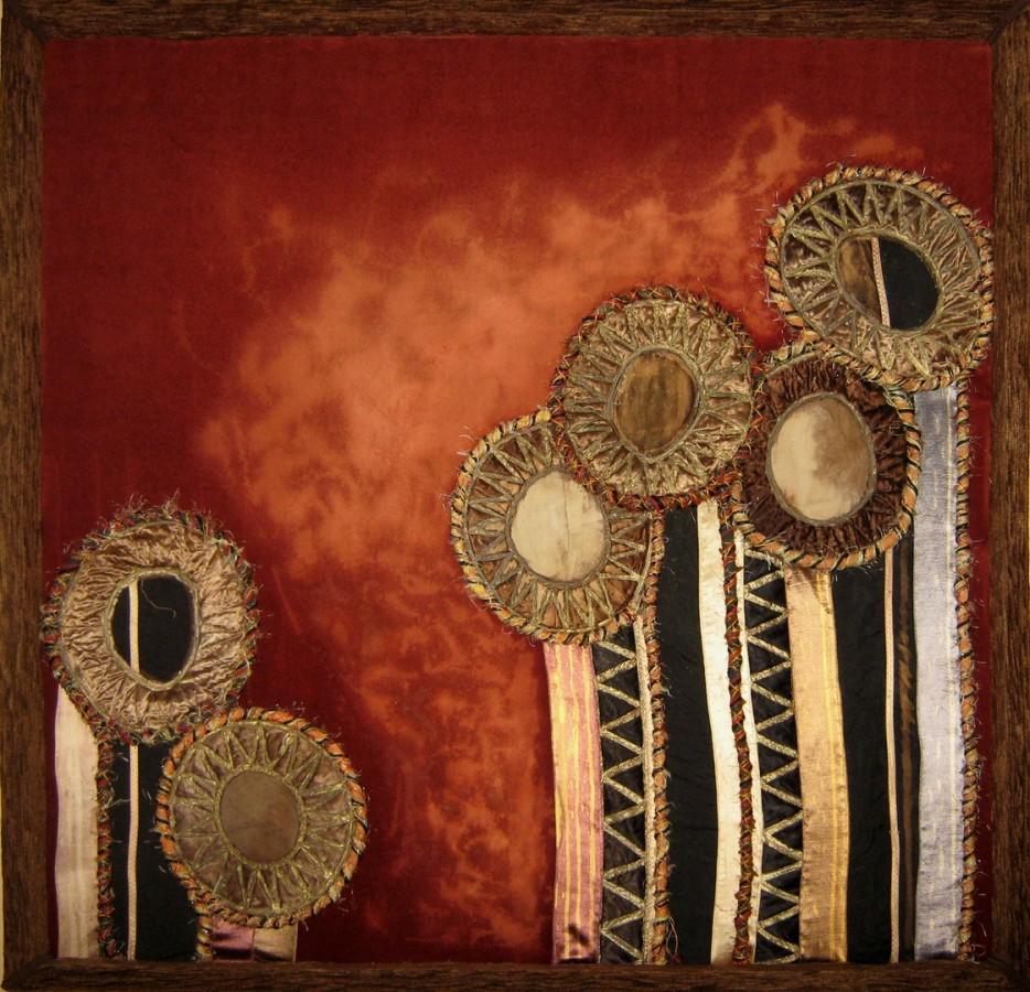 Ecaterina Marghidan CONVERSATIE 100-100 cm colaj textil 2012