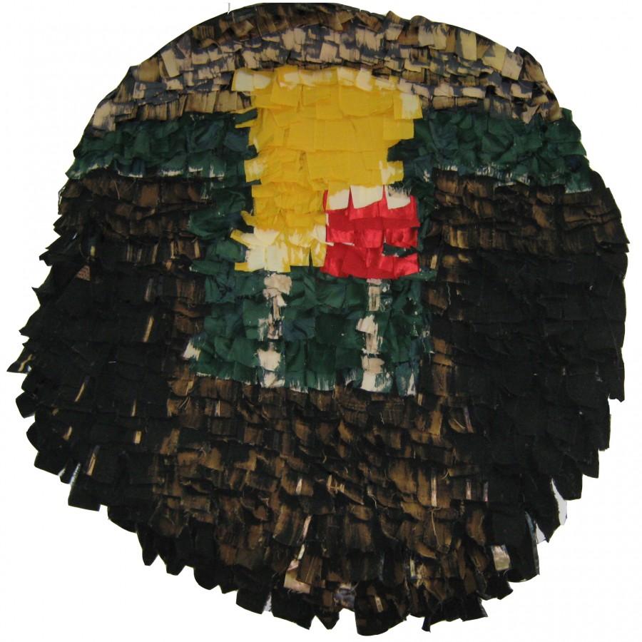 Ecaterina Marghidan Geometrii Vibrante  150-150 cm colaj textil 2011