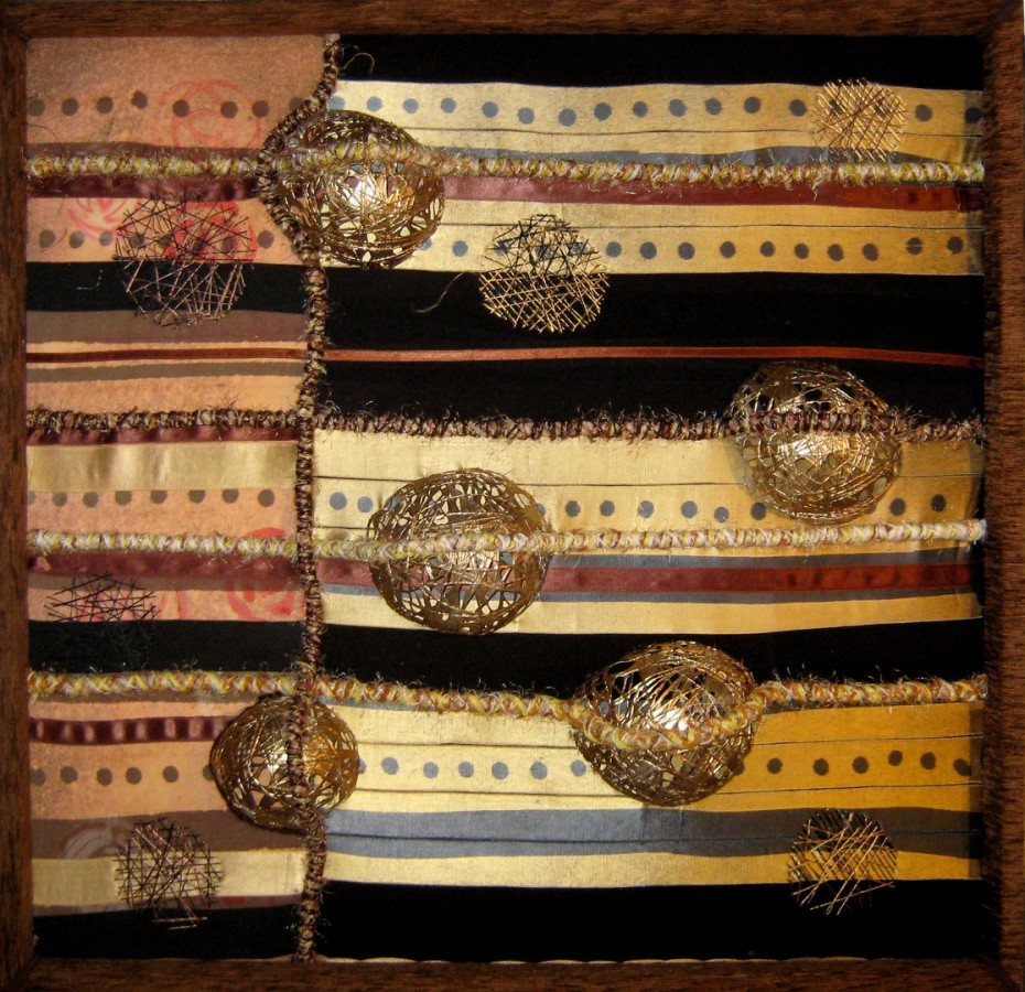 Ecaterina Marghidan  Note 100-100 cm colaj textil 2012
