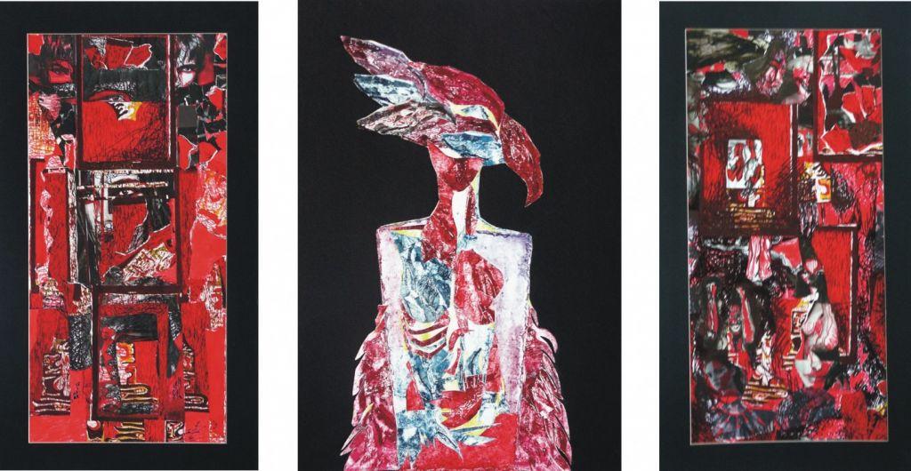 Etpele vietii, dim. 50x100_ 70x100_ 50x100 cm, teh. mixta, 2004