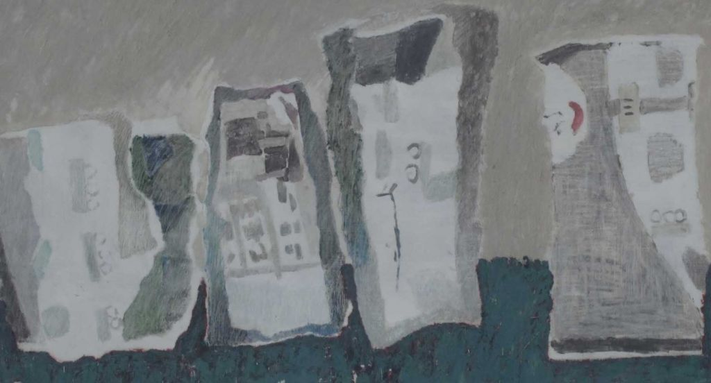 F. Ritm intrerupt. Ulei pe fibrolemn. 92x132 cm. 2004