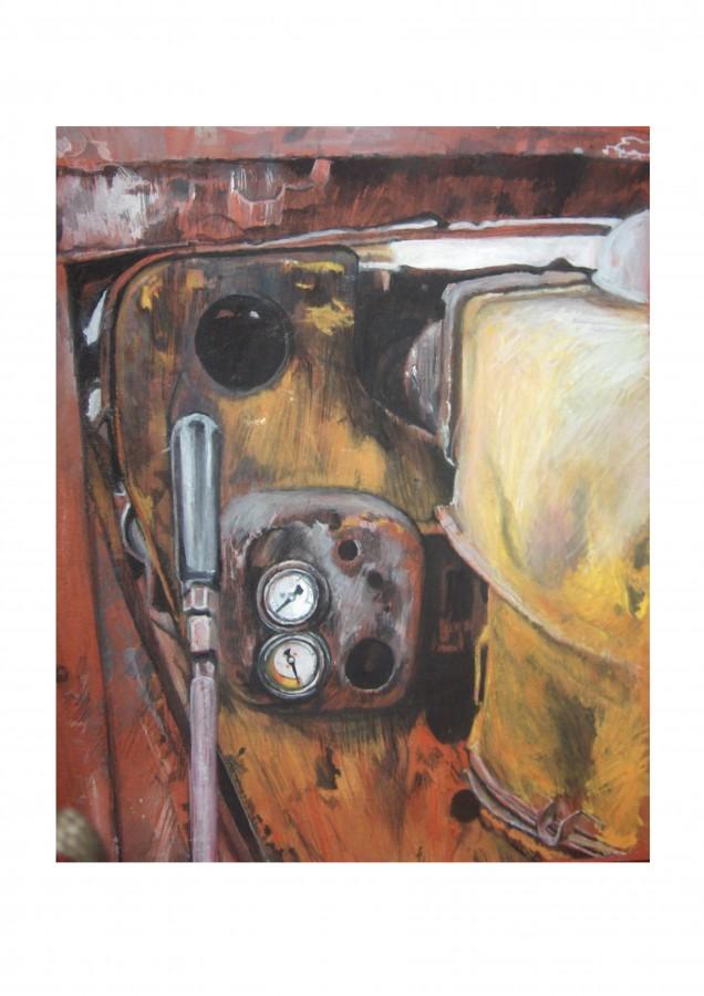 Fier vechi I, acuarela  pe hârtie,30x20 cm,2006