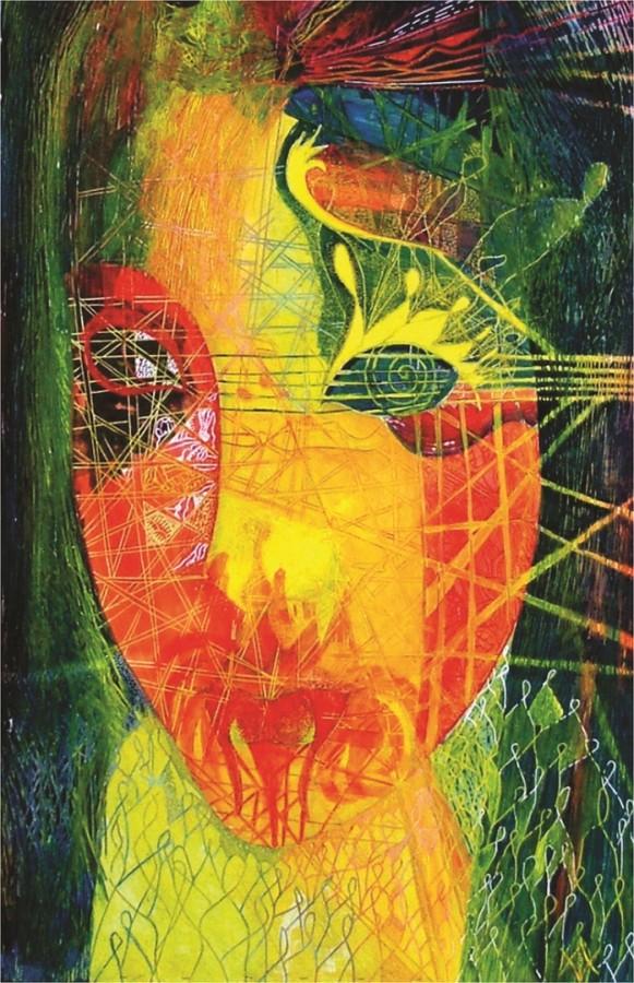 Fragilitate umana, dim. 100 x 140 cm, tehnica mixta, 2006 .