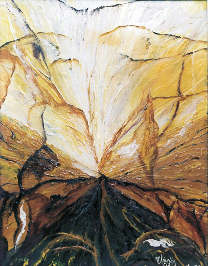 GENEZA SOLARA-ulei carton_ 0,440x0,340 -m  2000