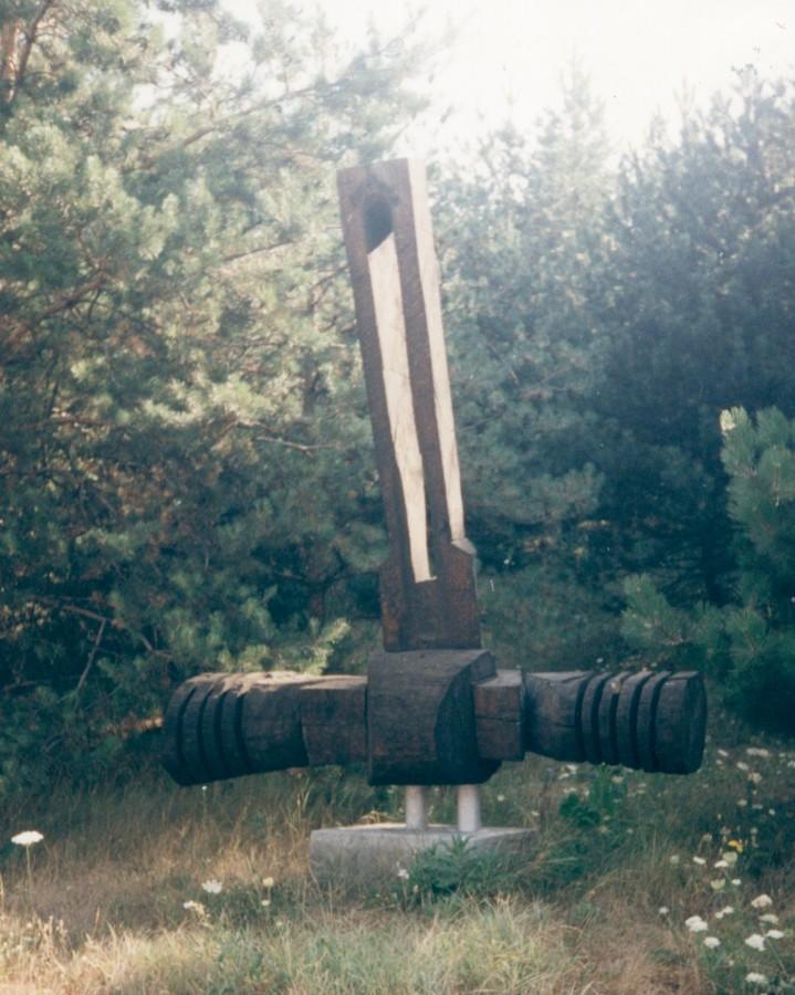 Icar - 1992, 220x180x70cm, lemn(stejar)