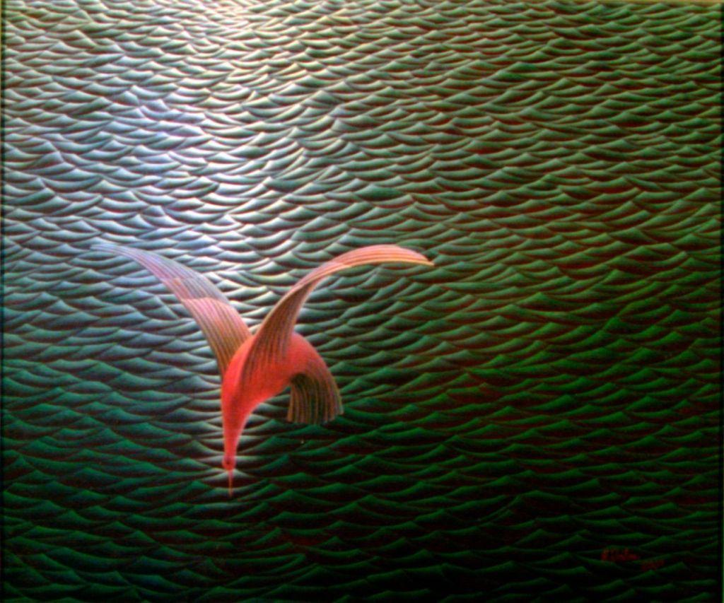 IchimAlex_PasareDeApa -70x60-ulei panza, 2001