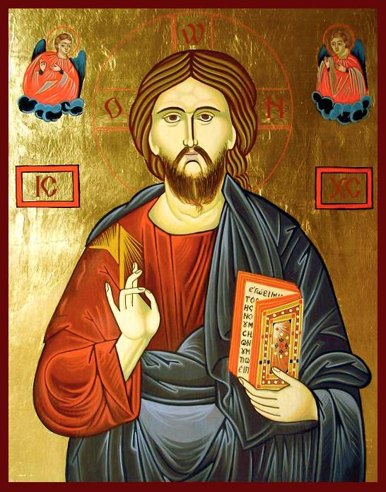 Iisus Hristos, acrilic pe lemn