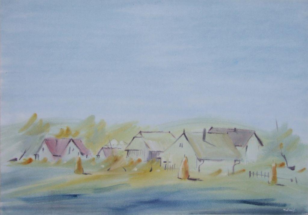 ,In asteptare_, 40 x 57 cm., acuarela, 2011;