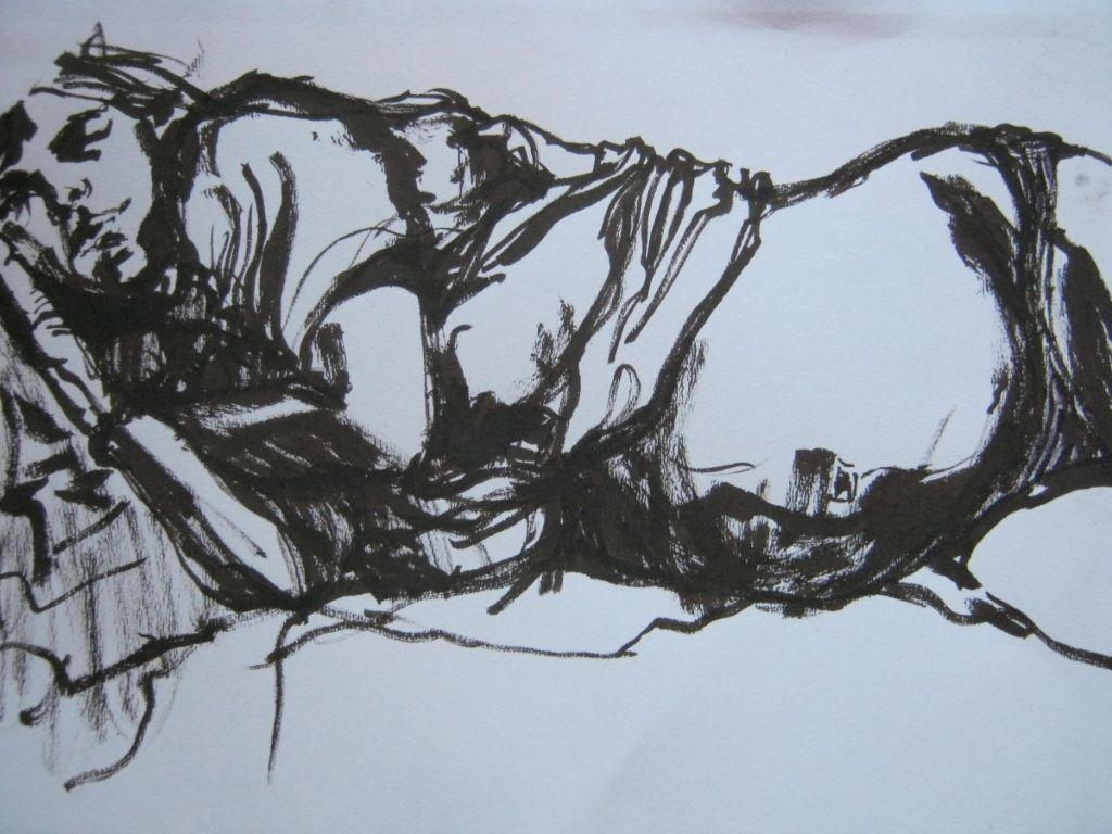 In ultima vreme, tu_ pe hârtie, 20x30 cm, 2011