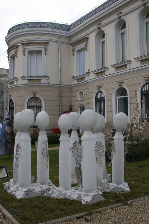 Ingeri - Tehnica sticla suflata lucrata manual dim 100 15x25, 10obiecte