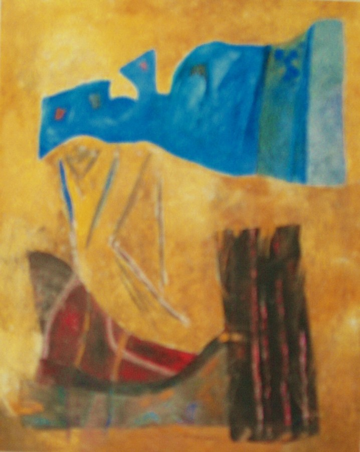 ''Ithaca mon amour''(tempera pe panza 100x80cm)