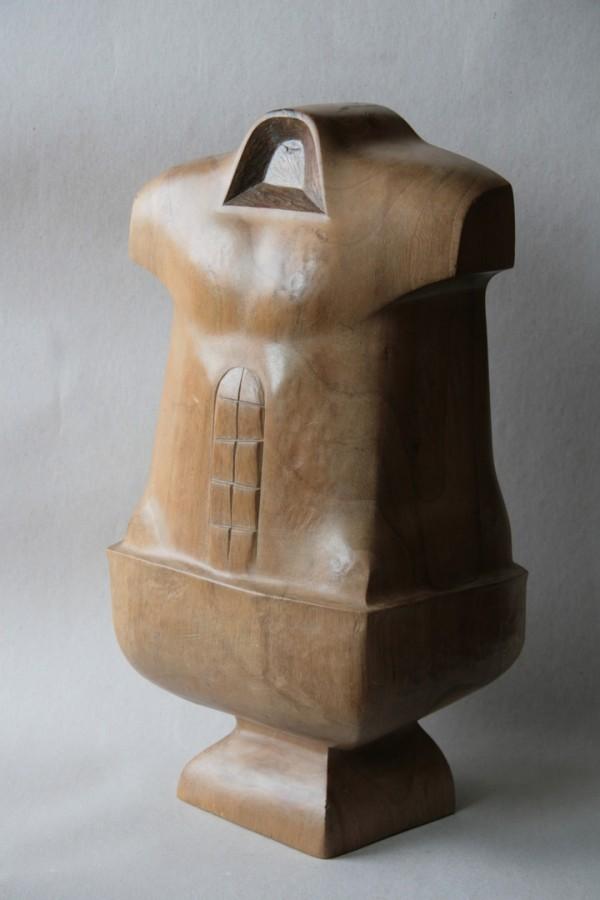 Jertfa IV - lemn nuc patinat 40x20x17  1998