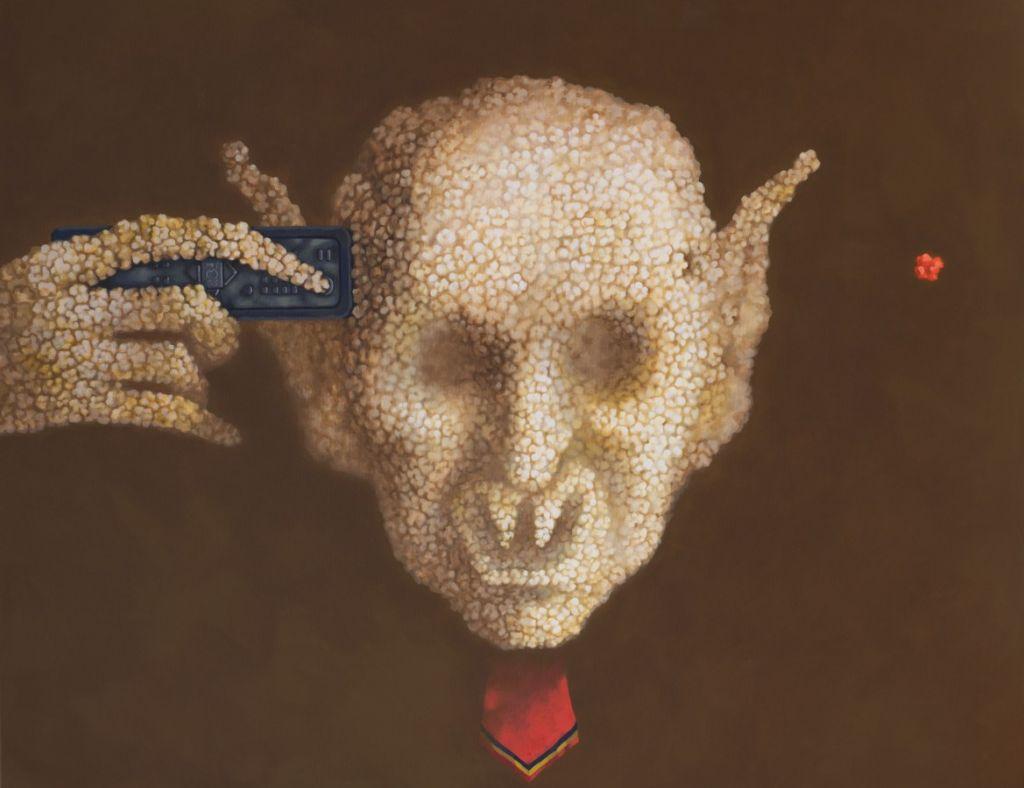 Leader Sheep - 2012 - 2013, acrylic pe panza, 100x80 cm