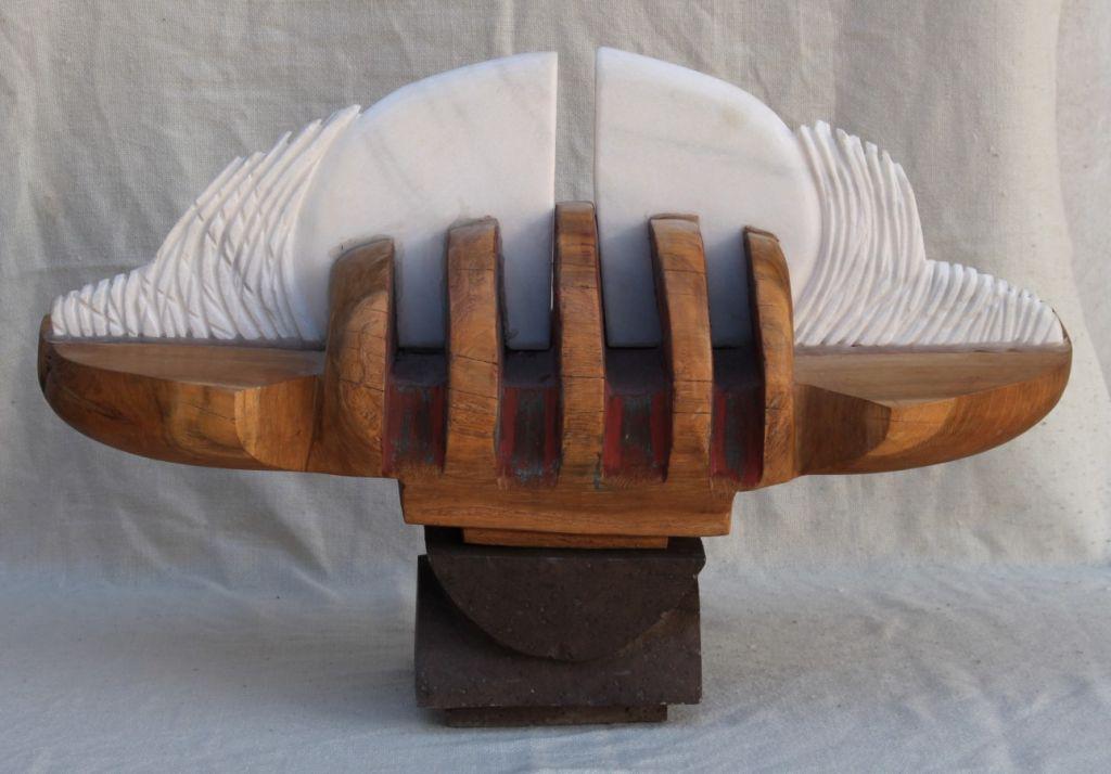 Luceafar - 2010, 85x60x30cm, lemn si marmura