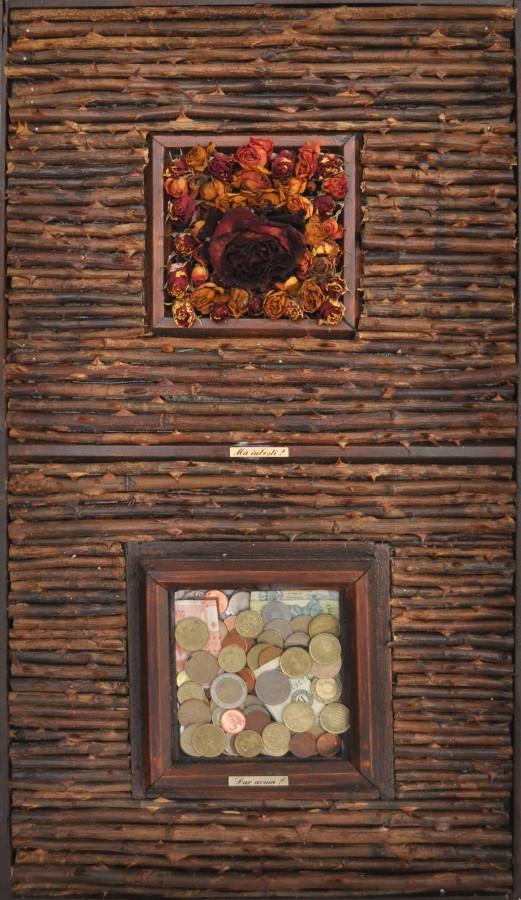 Ma iubesti, 2012, obiect instalatie, 65x80cm
