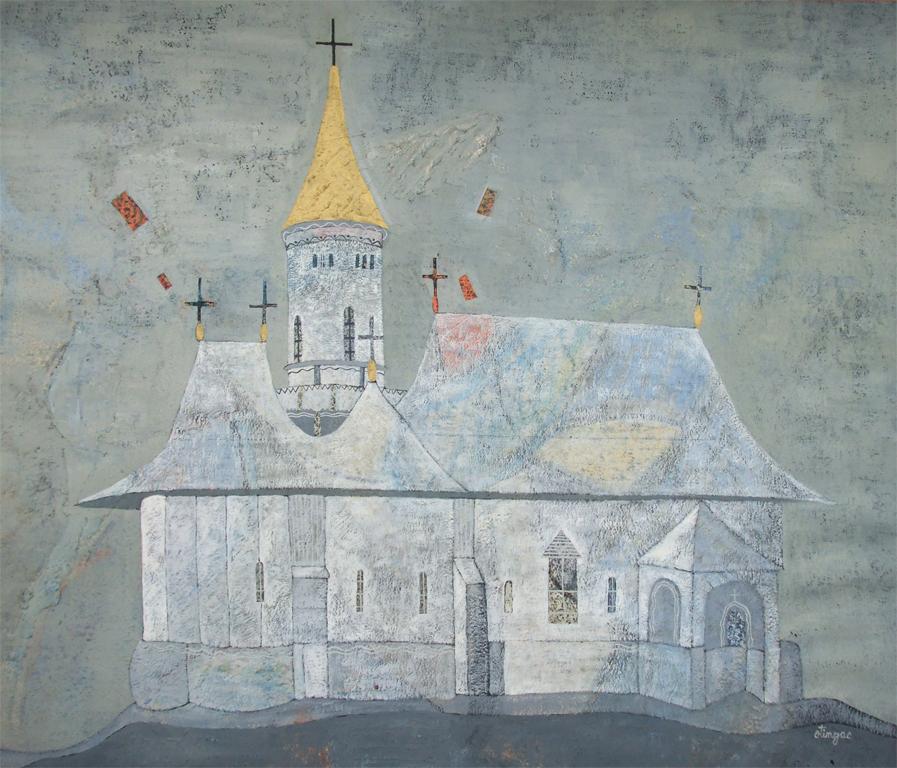 Manastire, 50x70cm, ulei pe carton, 2012
