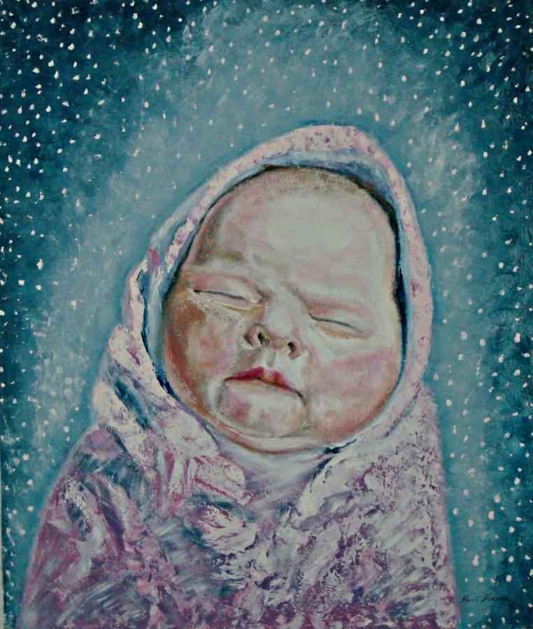 Metempsihosis-oil on canvas 80x95 cm .
