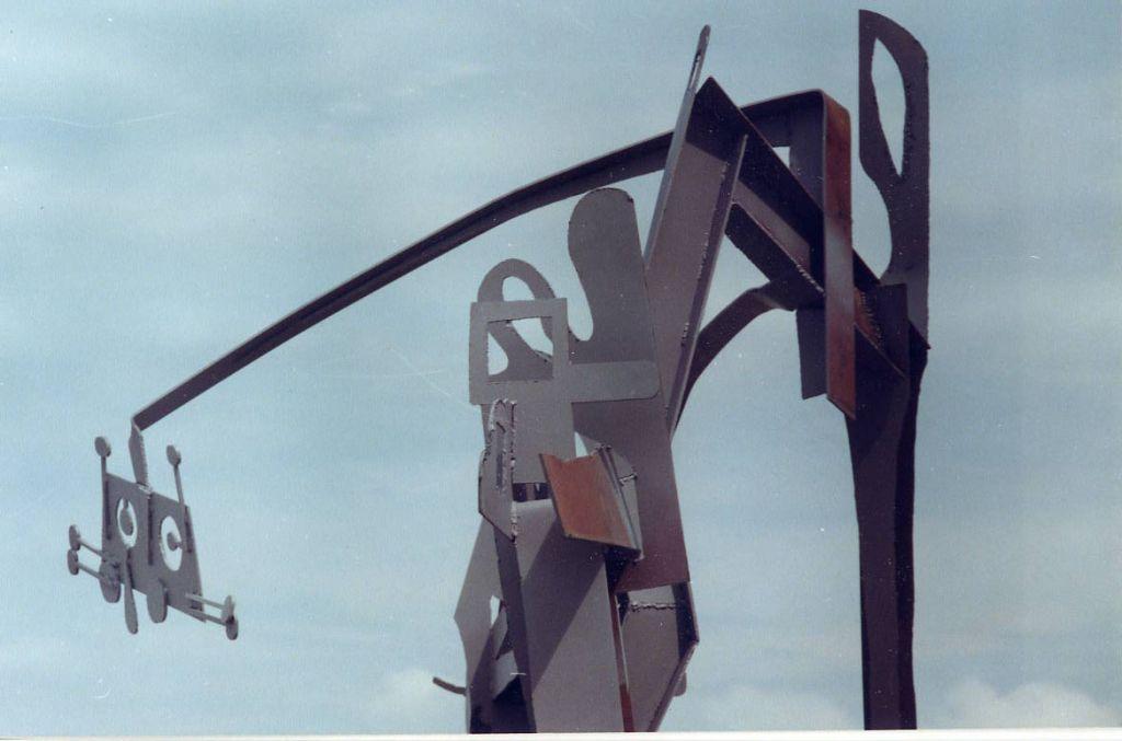 Mihai Verestiuc, Somn bizar, Techirghiol, 2000, fier sudat, 730x520x370 cm
