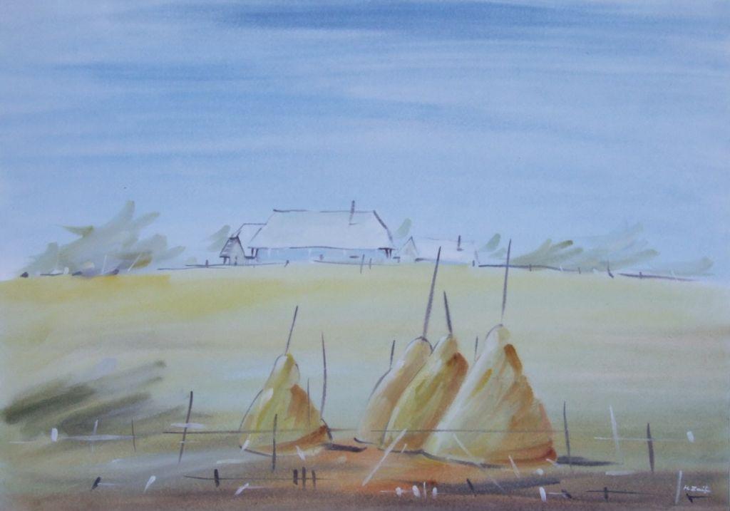 ,Mirajul orizontului_, 40 x 57 cm., acuarela, 2012;
